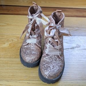 GAP rose gold lace up boots size 11